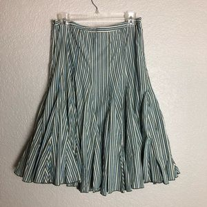 Anthropologie Odille Flouncy Striped Skirt Sz 6